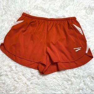 Brooks Orange Running Athletic Shorts Size Large